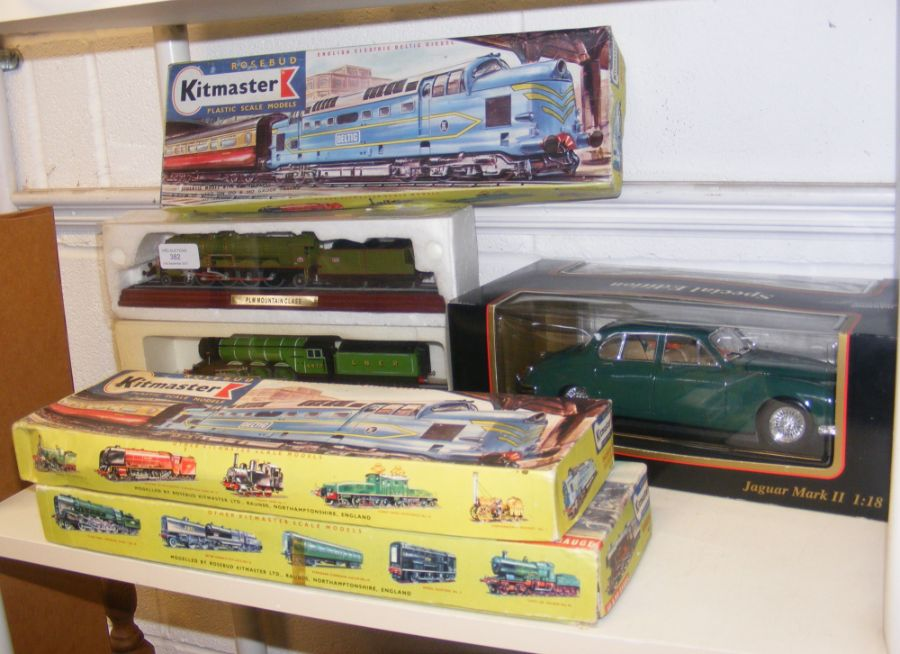Three boxed Kitmaster scale model trains for 00 an