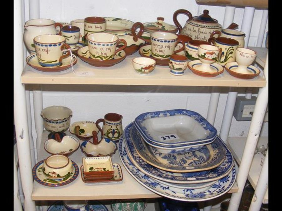A quantity of Motto Ware, together with antique bl