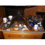 Assorted collectables including miniature Cloisonn