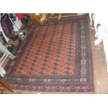 A Middle Eastern style rug with geometric border -