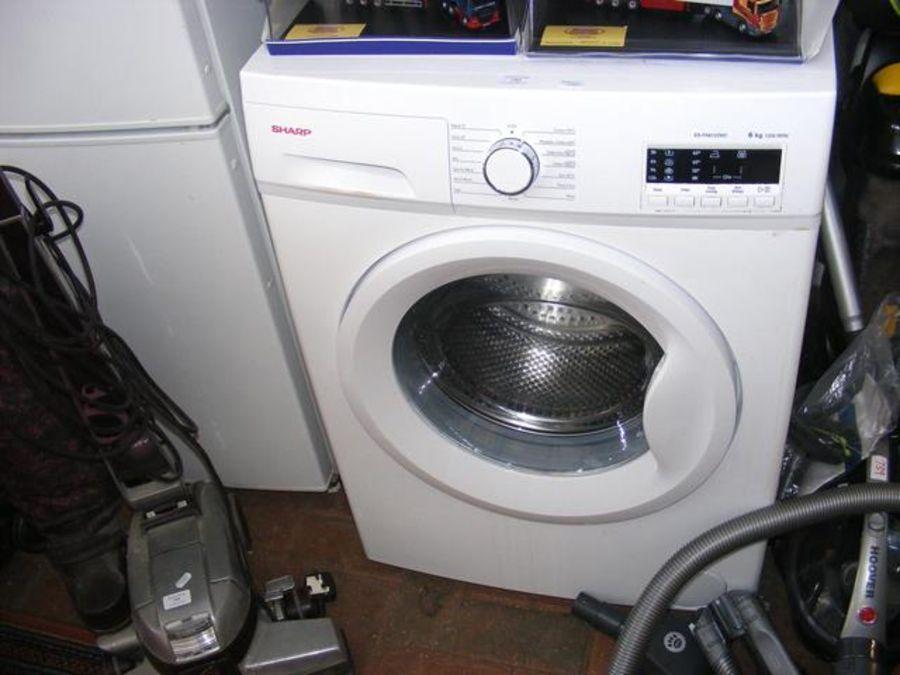 A Sharp front loading washing machine