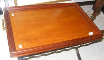 A George III satinwood two handled serving tray