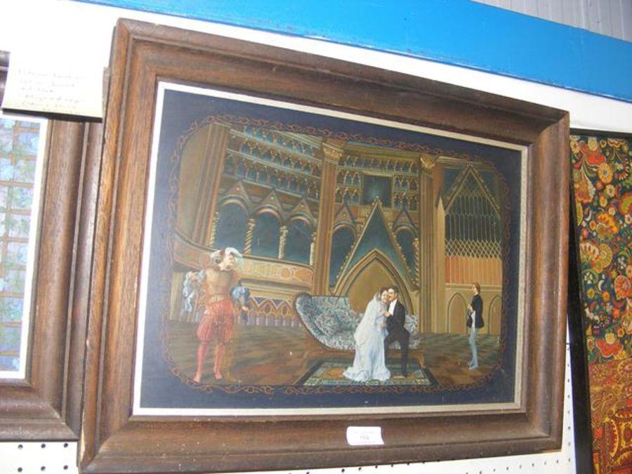 PATRICIA FAULKNER - 'Aphrodite & Hephaestus' - oil - Image 2 of 2