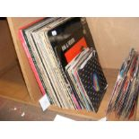 Selection of vintage LP's and 45's