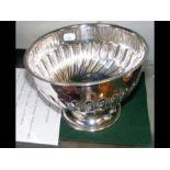 A silver fluted bowl - 20cm diameter - Birmingham