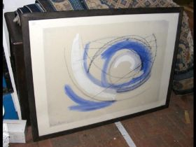 BARBARA HEPWORTH - large abstract print, signed