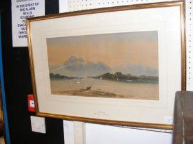 EDWIN EARP - watercolour of Ulleswater, signed - 2