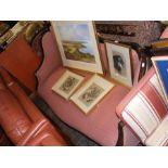 An Edwardian drawing room settee