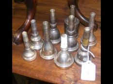 Nine mouthpieces for tuba, sousaphone and euphoniu