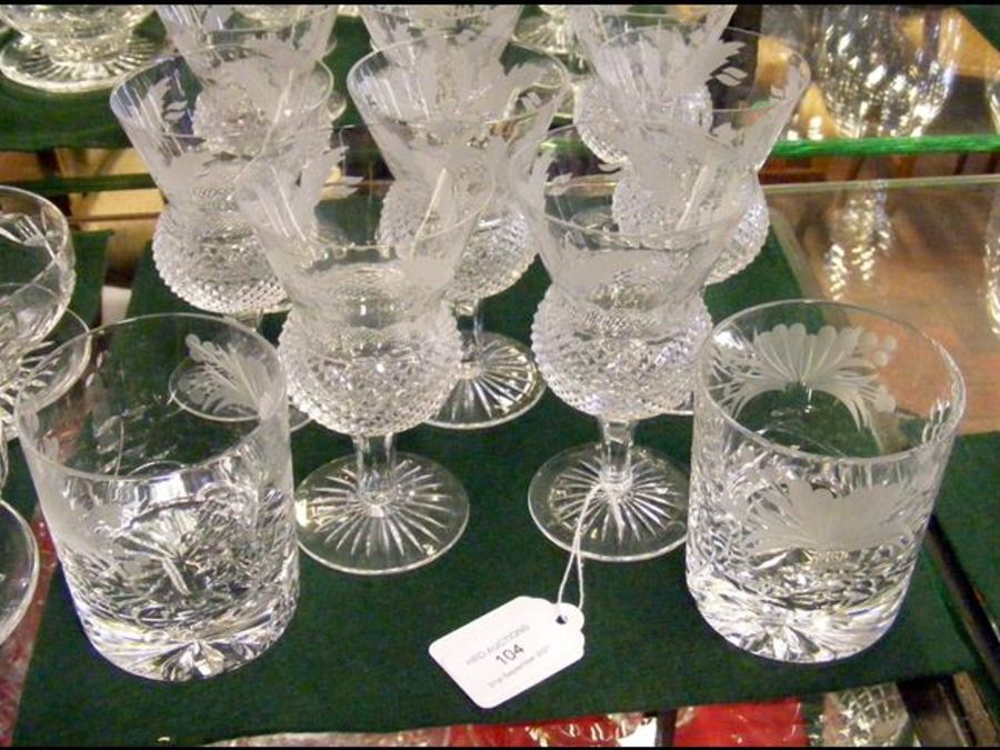 A suite of eight Edinburgh crystal wine glasses wi - Image 2 of 2