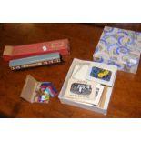 Collectable medals, souvenir miniature postcards e