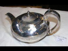 A Georgian silver teapot - London 1813 - by Emes &