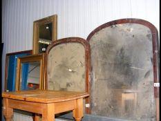 Five wall mirrors