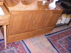 A retro Ercol 'Golden Dawn' sideboard with drawers