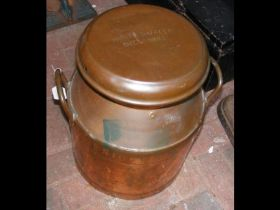 A Hunts Dairies of Sherborne two handled milk chur