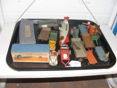 A tray of vintage Dinky Toys
