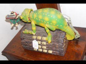 A vintage chameleon telephone
