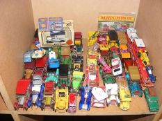 A quantity of die cast model vehicles, including L