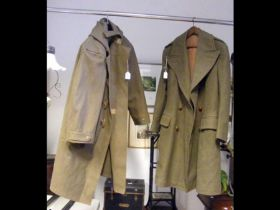 An old Army coat and one other