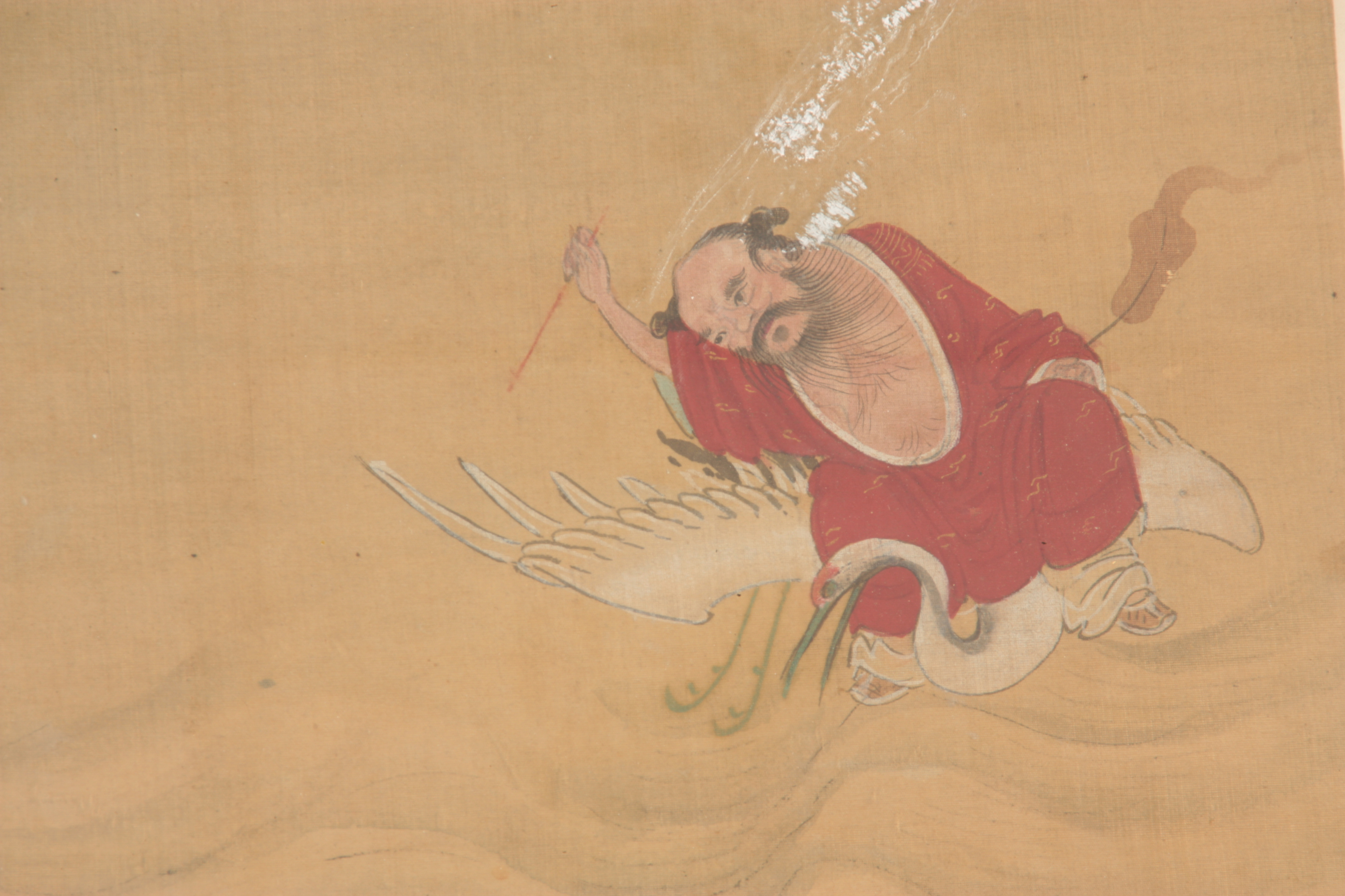 A LARGE 19TH CENTURY CHINESE PAINTED SILK PANEL finely decorated with figures and pagodas amongst - Image 9 of 9
