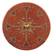 A 19TH CENTURY SCOTTISH TARGE BASED ON AN EXAMPLE THAT ANDREW MACPHERSON OF CLUNY USED bound in