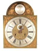 "THOMAS MEEKINGS, DUBLIN. AN EARLY 18TH CENTURY IRISH LONGCASE CLOCK MOVEMENT the 13.5"" arched"