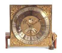 """THOMAS OGDEN, HALIFAX. A GEORGE II 30-HOUR PENNY MOON LONGCASE CLOCK MOVEMENT the 12.5"""" square"""