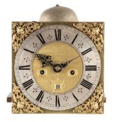 """GEORGE BURGIS, LONDINI. A LATE 17TH CENTURY 10"""" LONGCASE CLOCK MOVEMENT the square brass dial with"""
