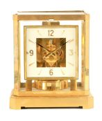 A JAEGER-LECOULTRE ATMOS CLOCK the gilt brass framed case with removable front glass panel enclosing
