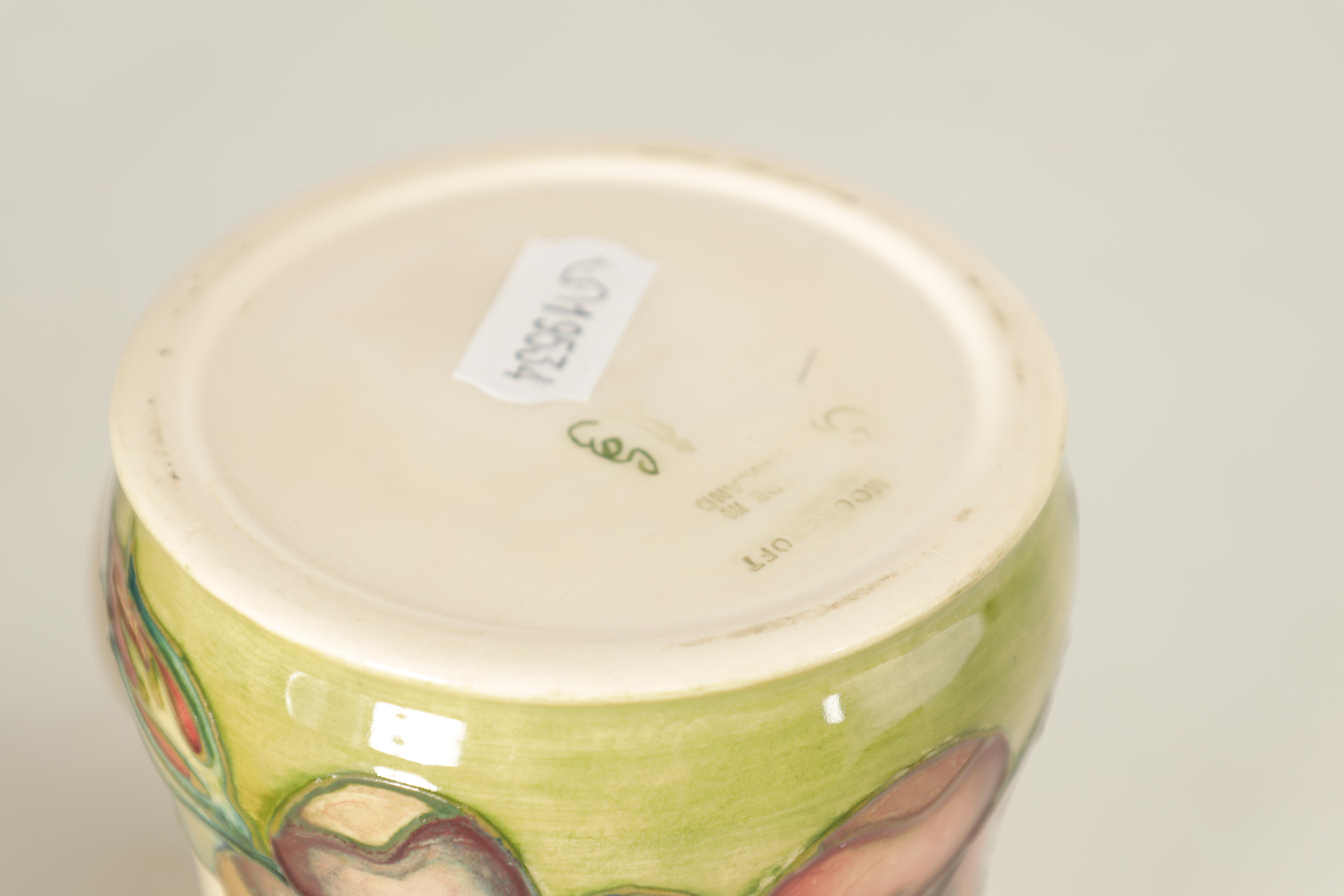 A MOORCROFT MINIATURE BULBOUS CABINET VASE tube lined and decorated with hibiscus flowerhead - Image 5 of 8
