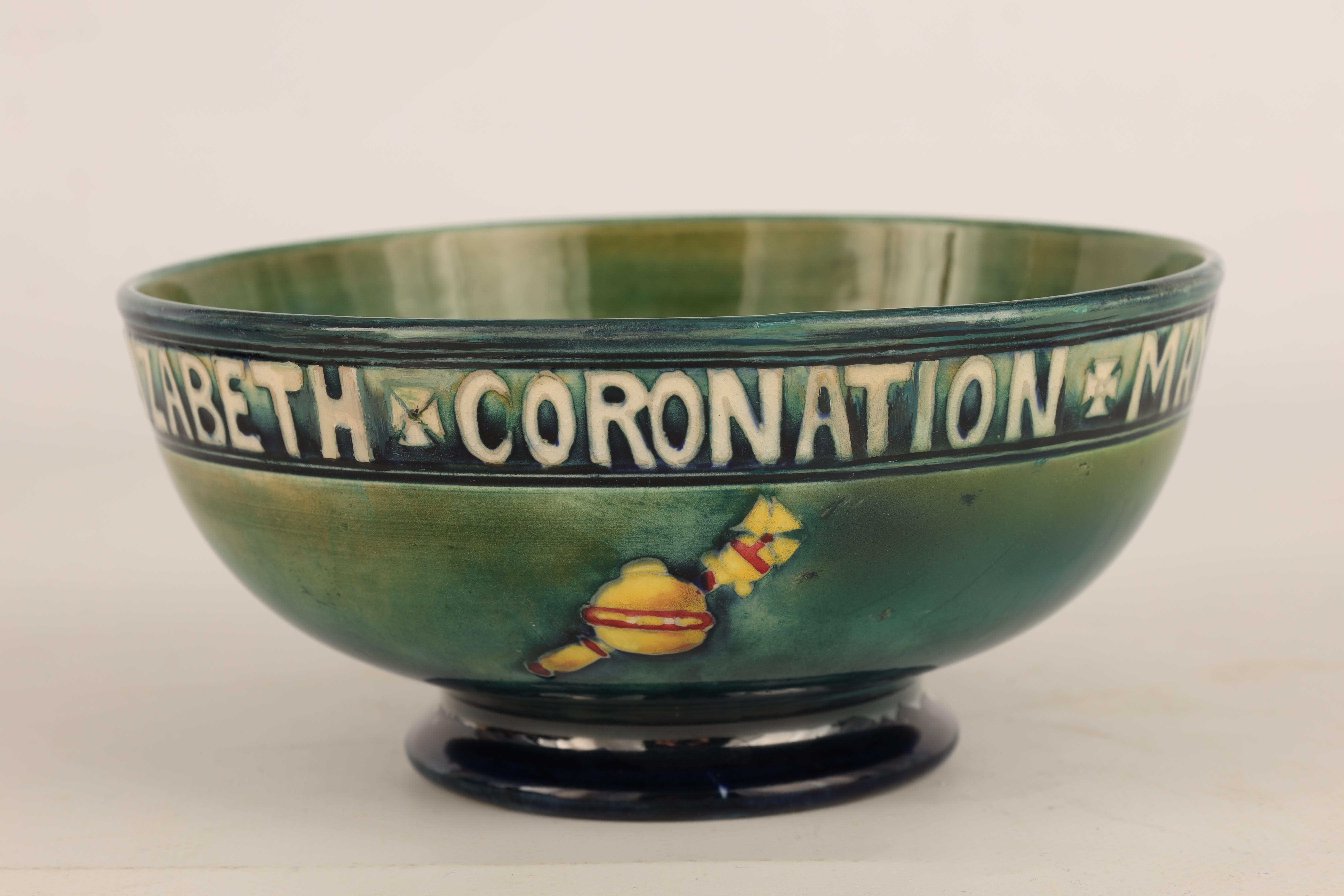 A 1930S MOORCROFT FOOTED BOWL COMMEMORATING THE CORONATION OF GEORGE VI AND QUEEN ELIZABETH MAY 12th - Image 3 of 6