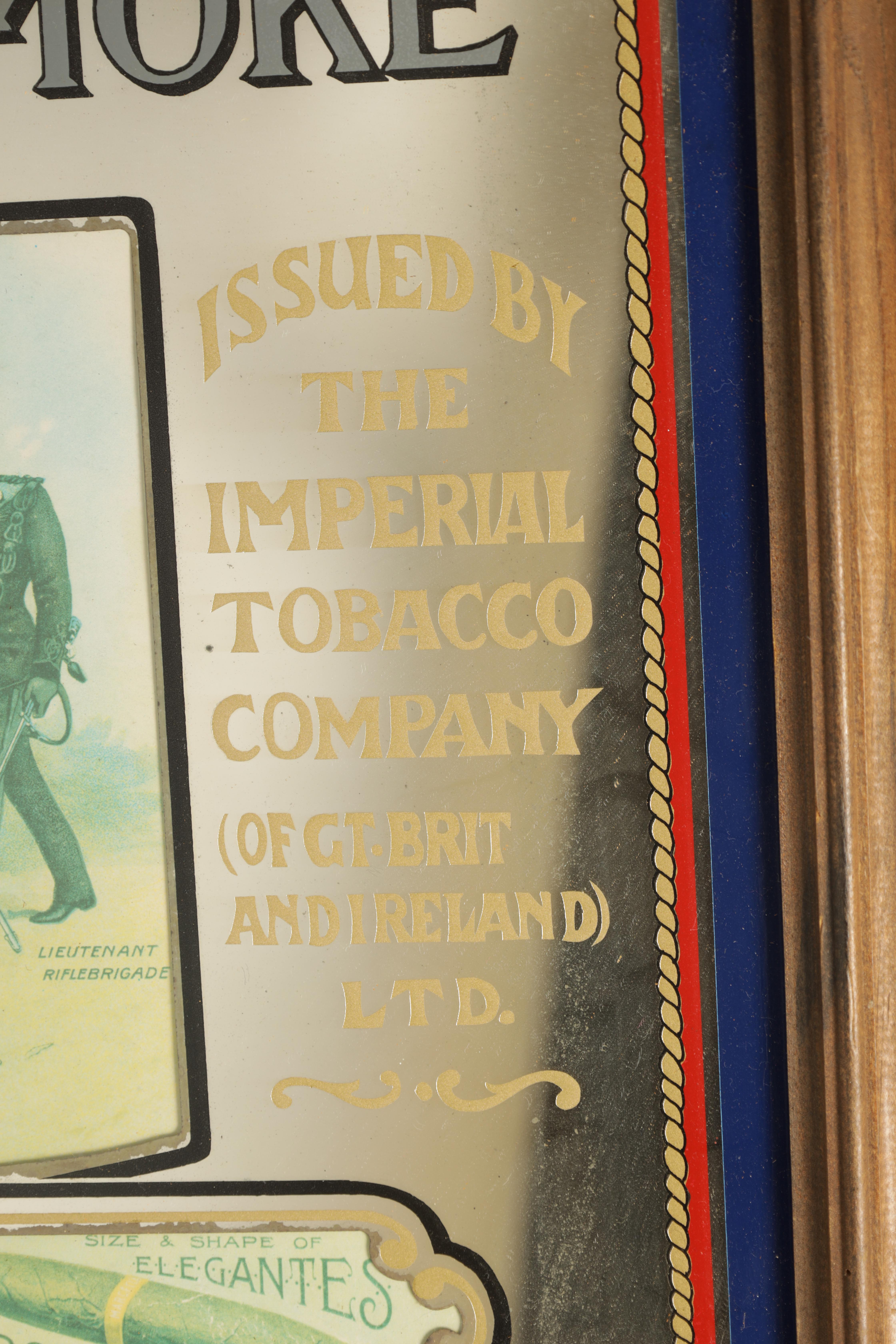 """A 20TH CENTURY """"ALL RANKS SMOKE MARCELLA CIGARS"""" FRAMED ADVERTISING MIRROR 67cm wide 55cm high - Image 3 of 4"""