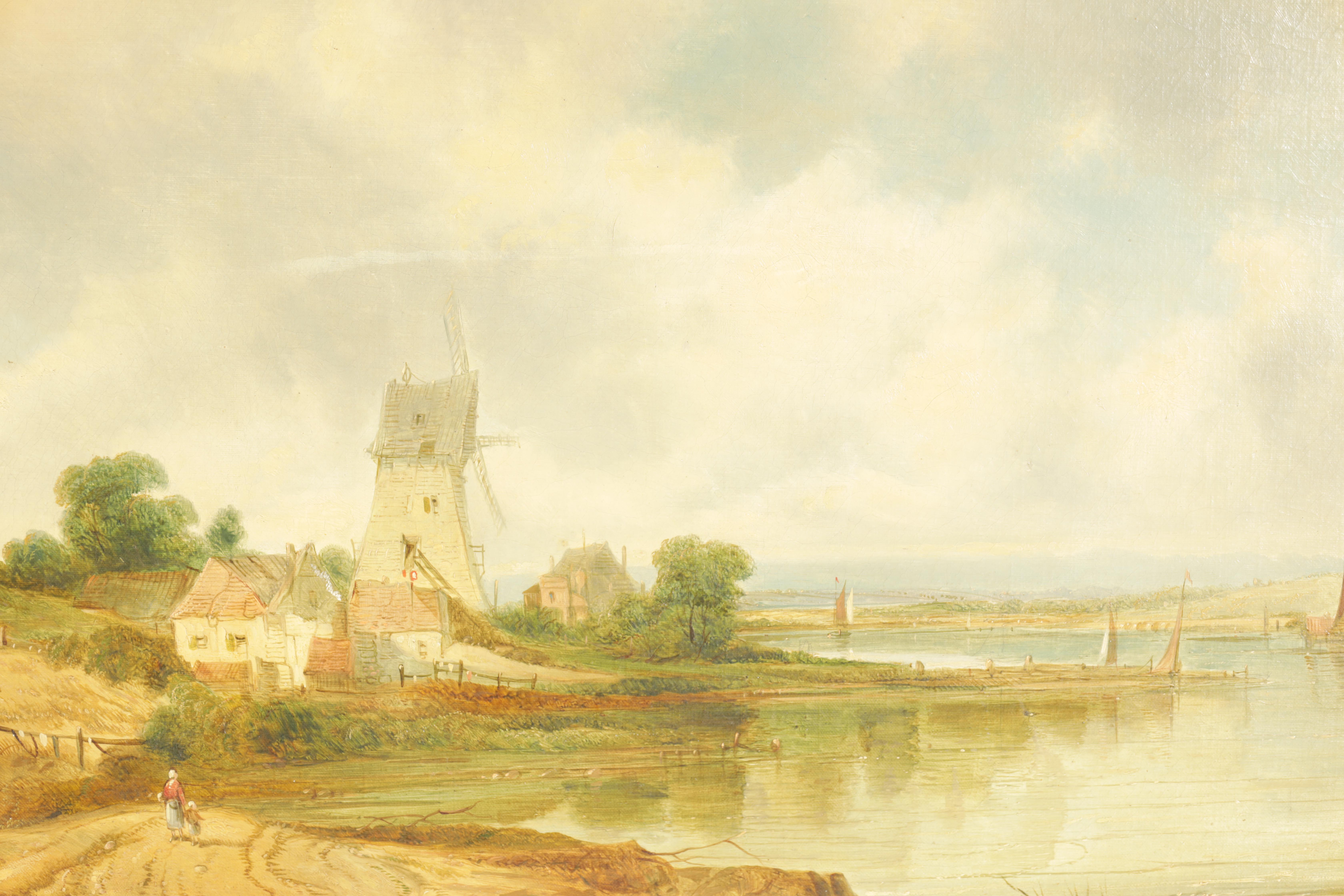 ALFRED H. VICKERS A PAIR OF MID 19TH CENTURY OILS ON CANVAS depicting river landscapes - signed - Image 3 of 8