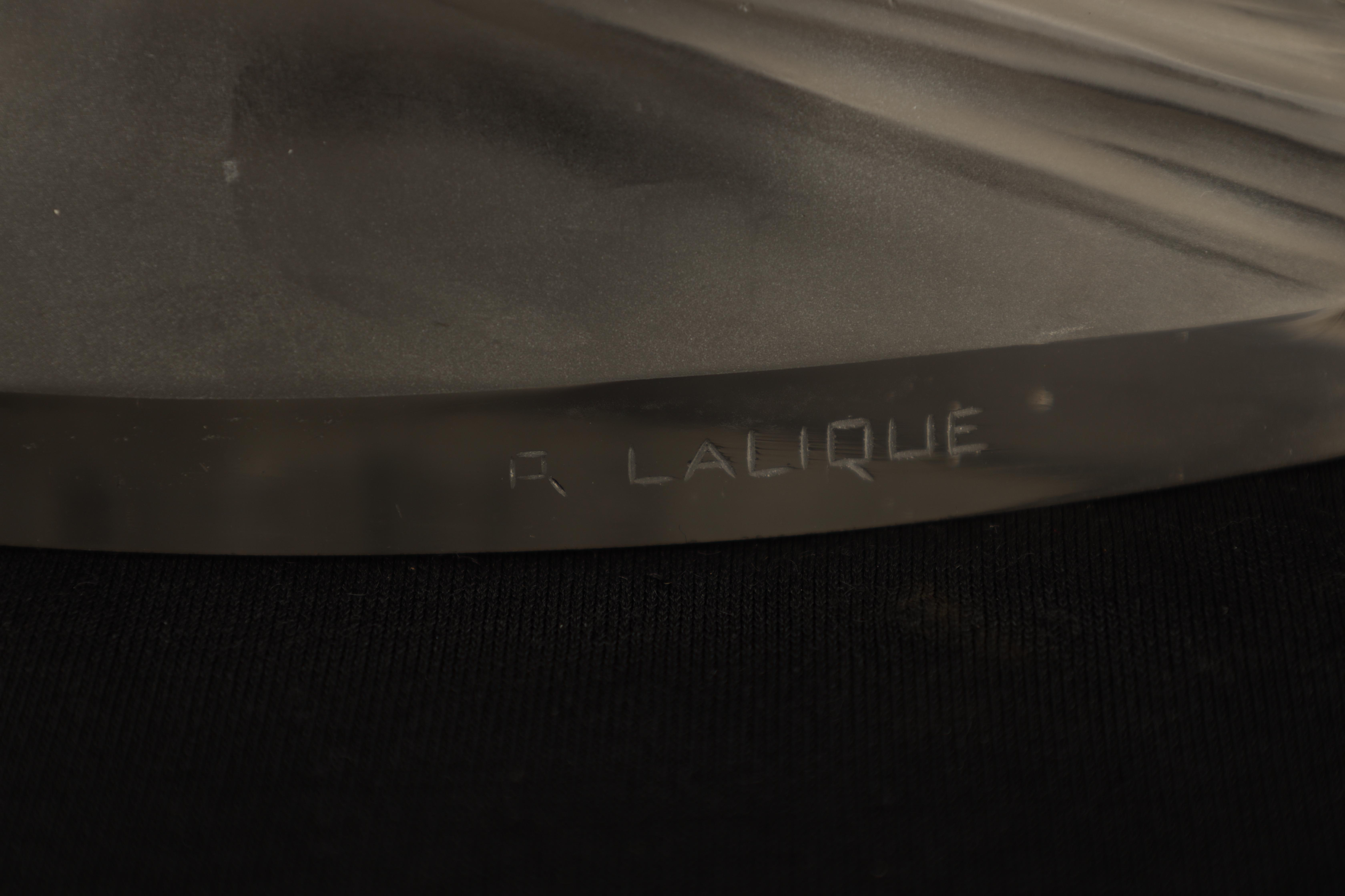 R LALIQUE, A CLEAR 'COTE D'AZUR' GLASS PAPERWEIGHT with curved base and form, concave top and base - Image 5 of 6