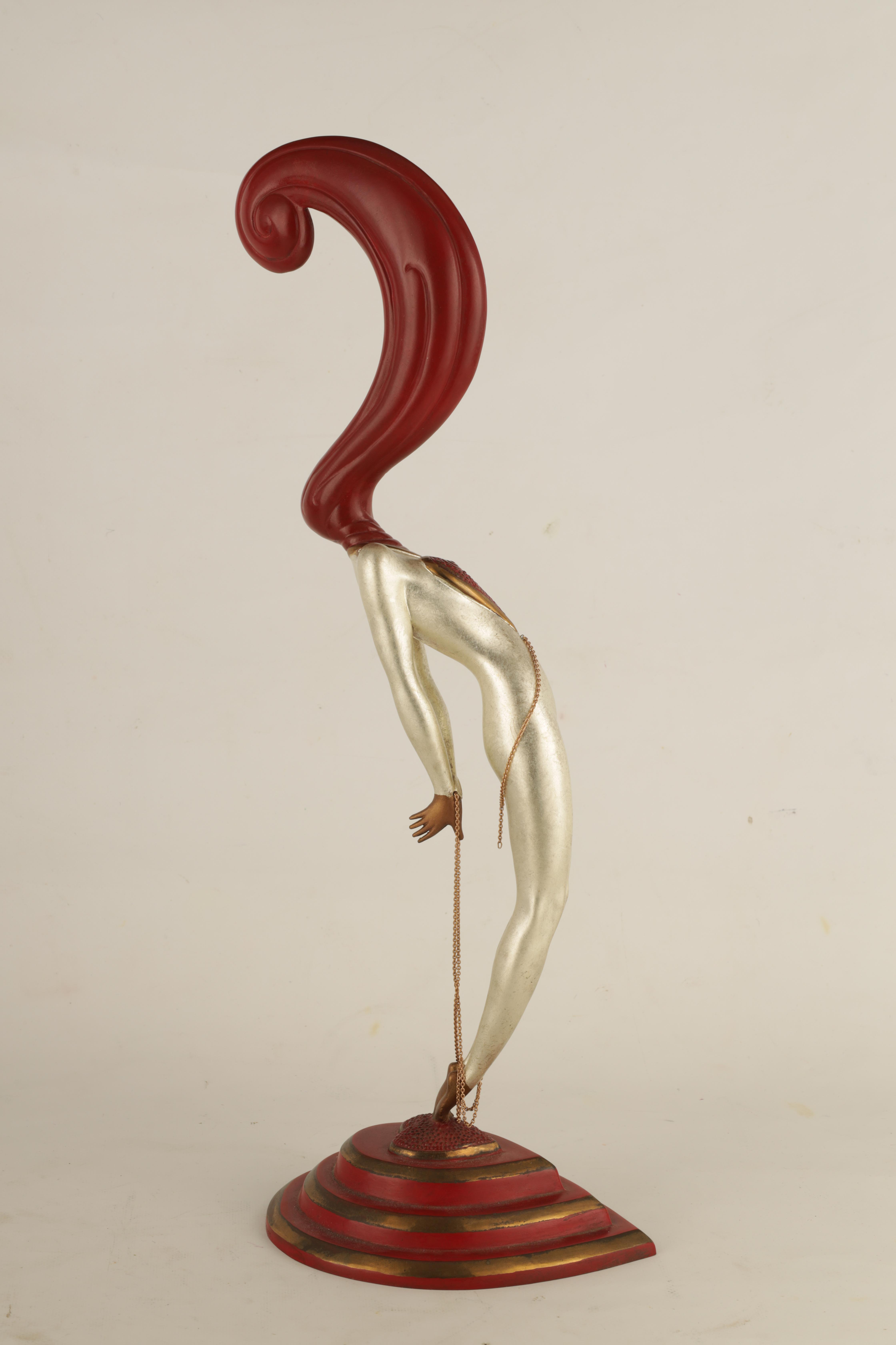 ROMAIN DE TIRTOFF. RUSSIAN 1892-1990. A 20TH CENTURY RUSSIAN LIMITED EDITION COLD PAINTED BRONZE - Image 6 of 11