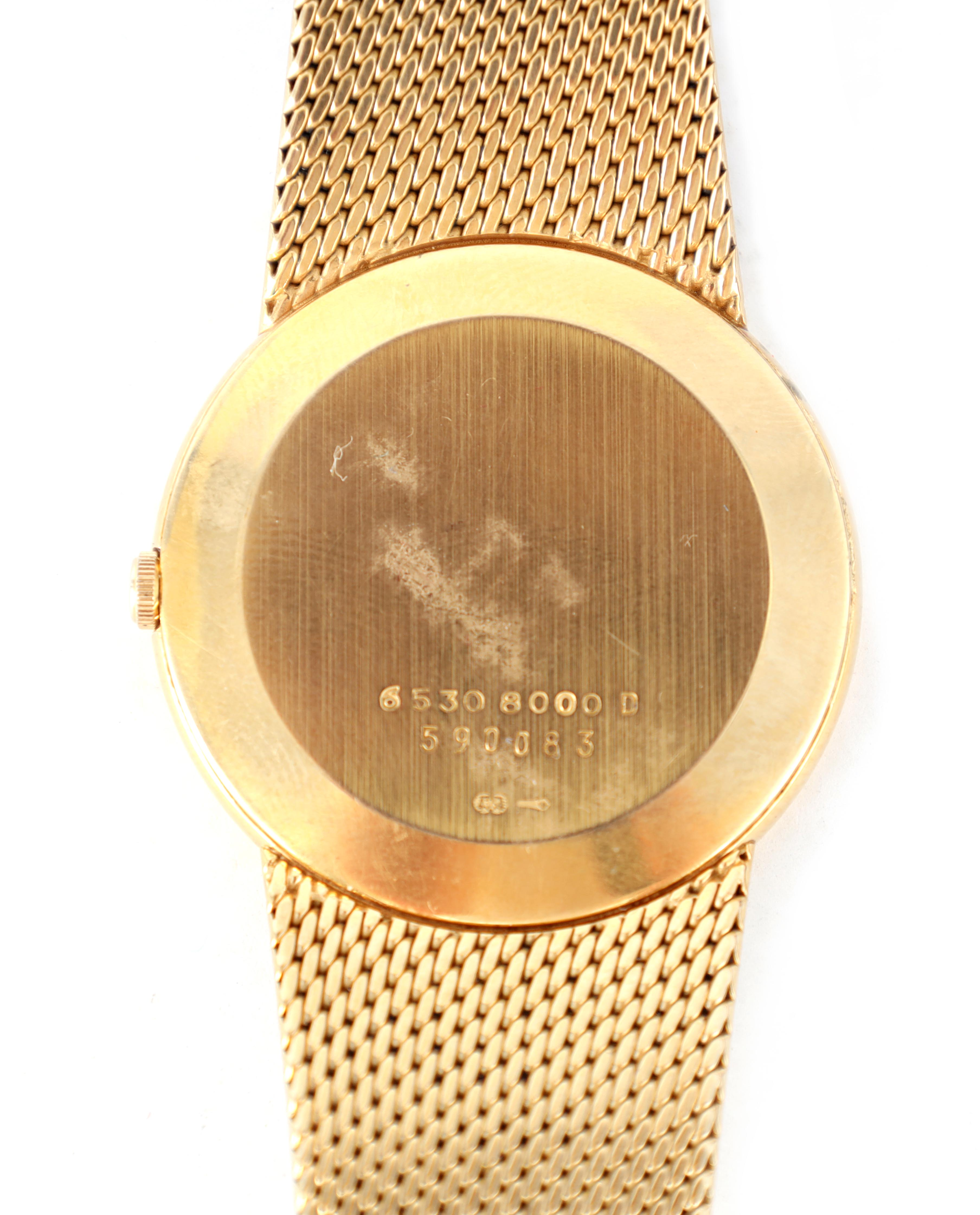A GENTLEMAN'S 9CT GOLD SEIKO WRISTWATCH on original 9ct gold bracelet The white enamel dial with - Image 5 of 8
