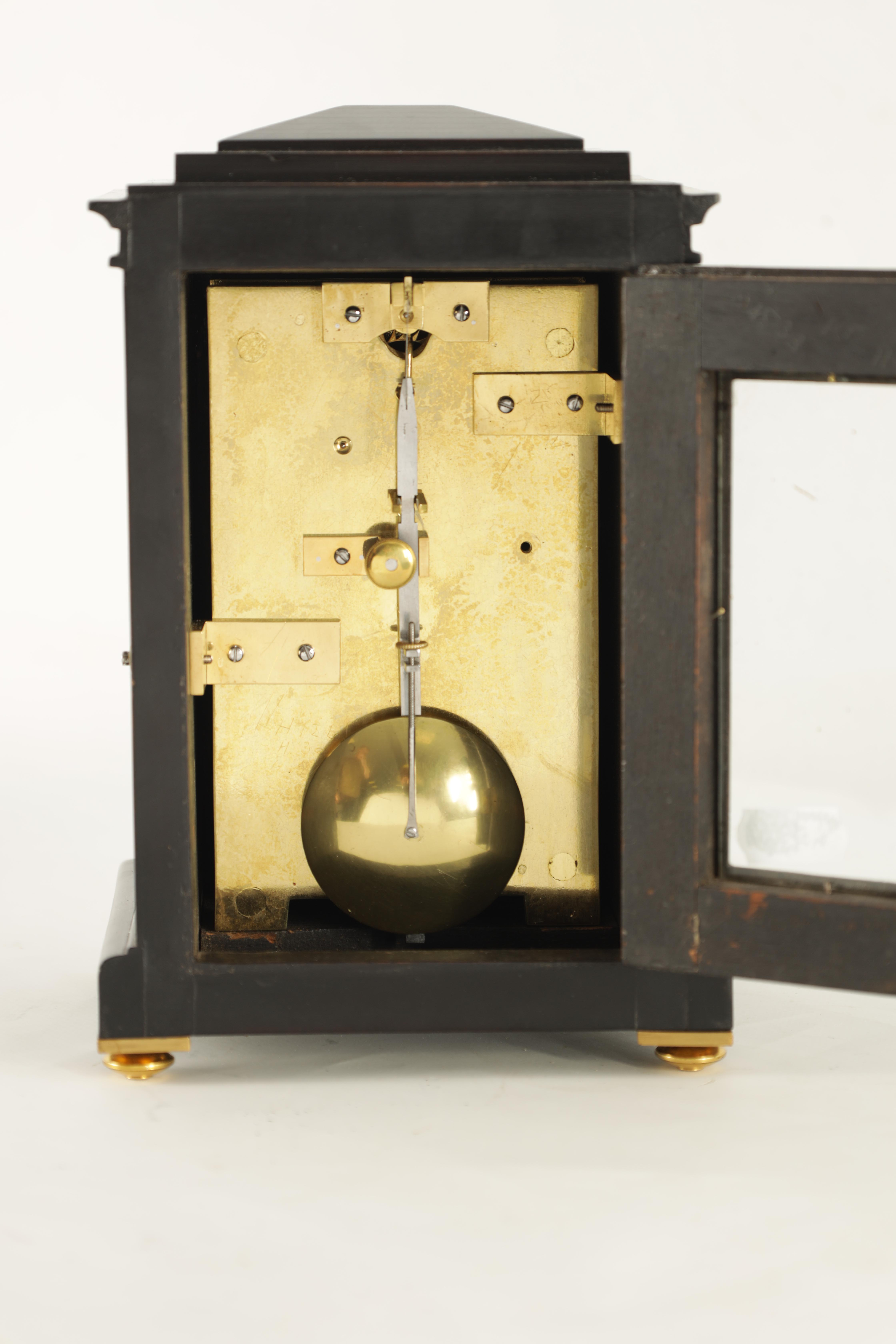 BARRAUDS & LUND, CORNHILL, LONDON. 1549 A FINE EARLY 19TH CENTURY REGENCY EBONISED ENGLISH FUSEE - Image 5 of 8