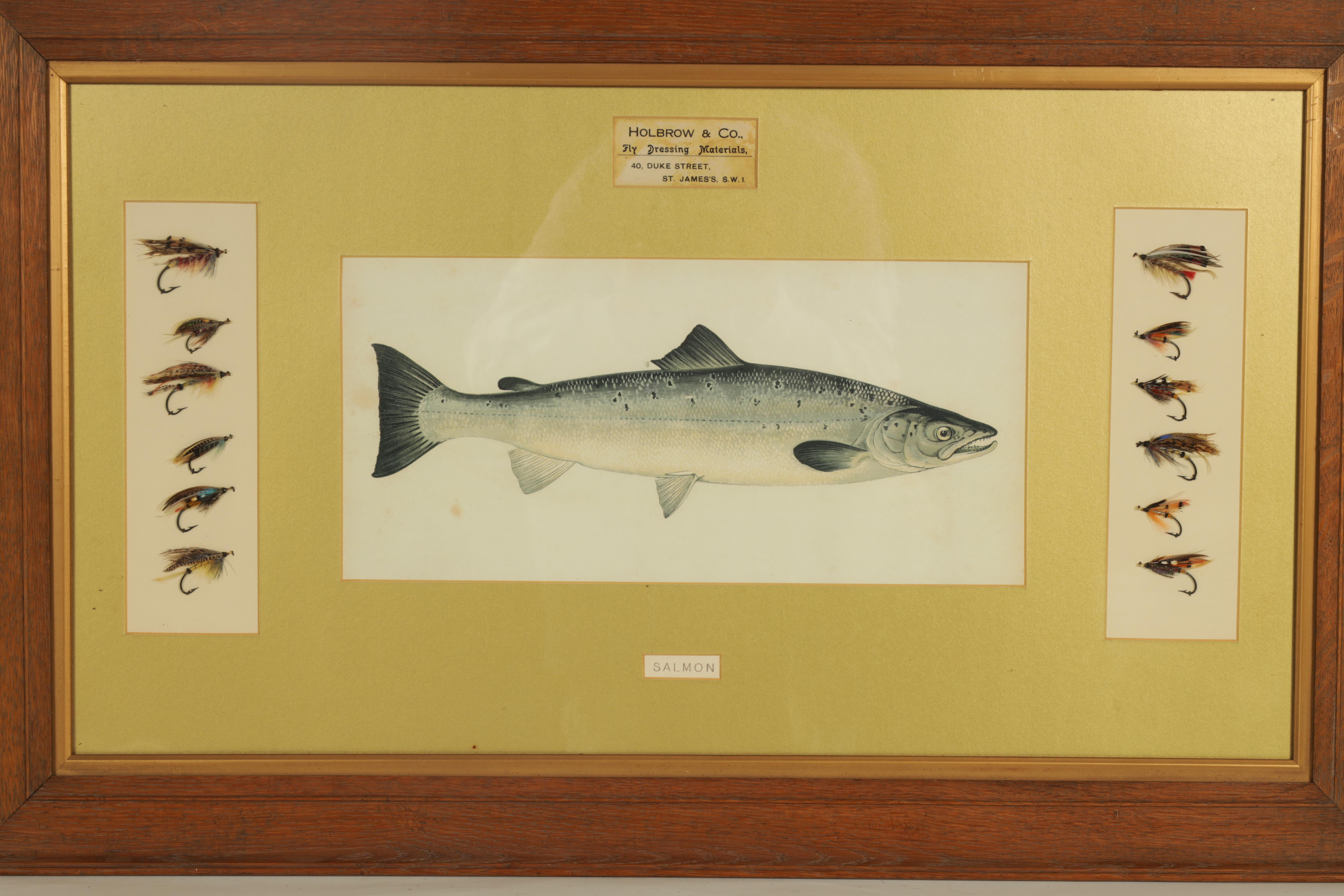 AN EDWARDIAN FLY FISHING SHOP DISPLAY FOR SALMON FLIES from Holbrook & Co. Fly Dressing Materials, - Image 2 of 3