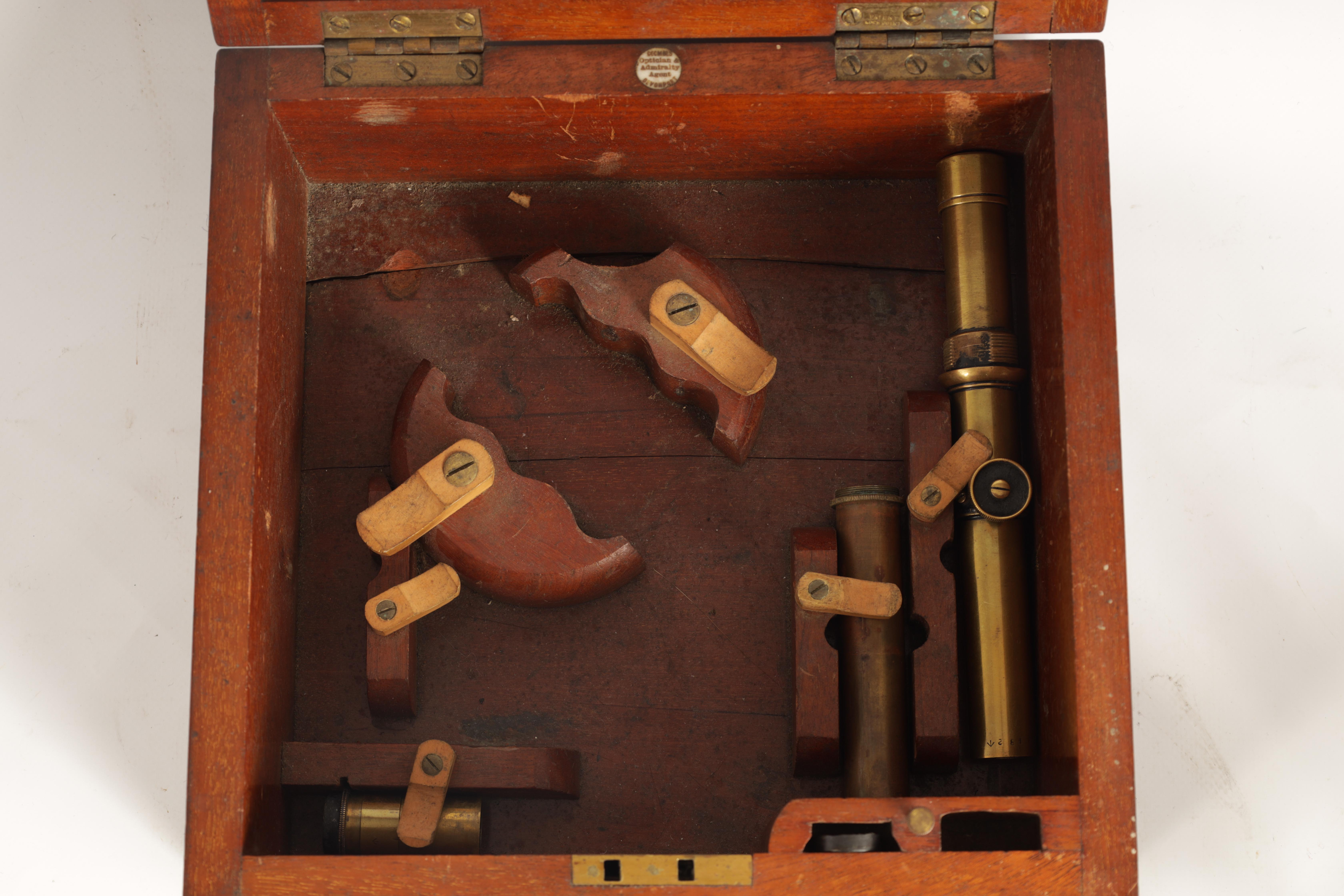 J. COOMBES, OPTICIAN & ADMIRALTY AGENT, DEVONPORT. A LATE 19TH CENTURY BRASS FRAMED SEXTANT IN - Image 15 of 17