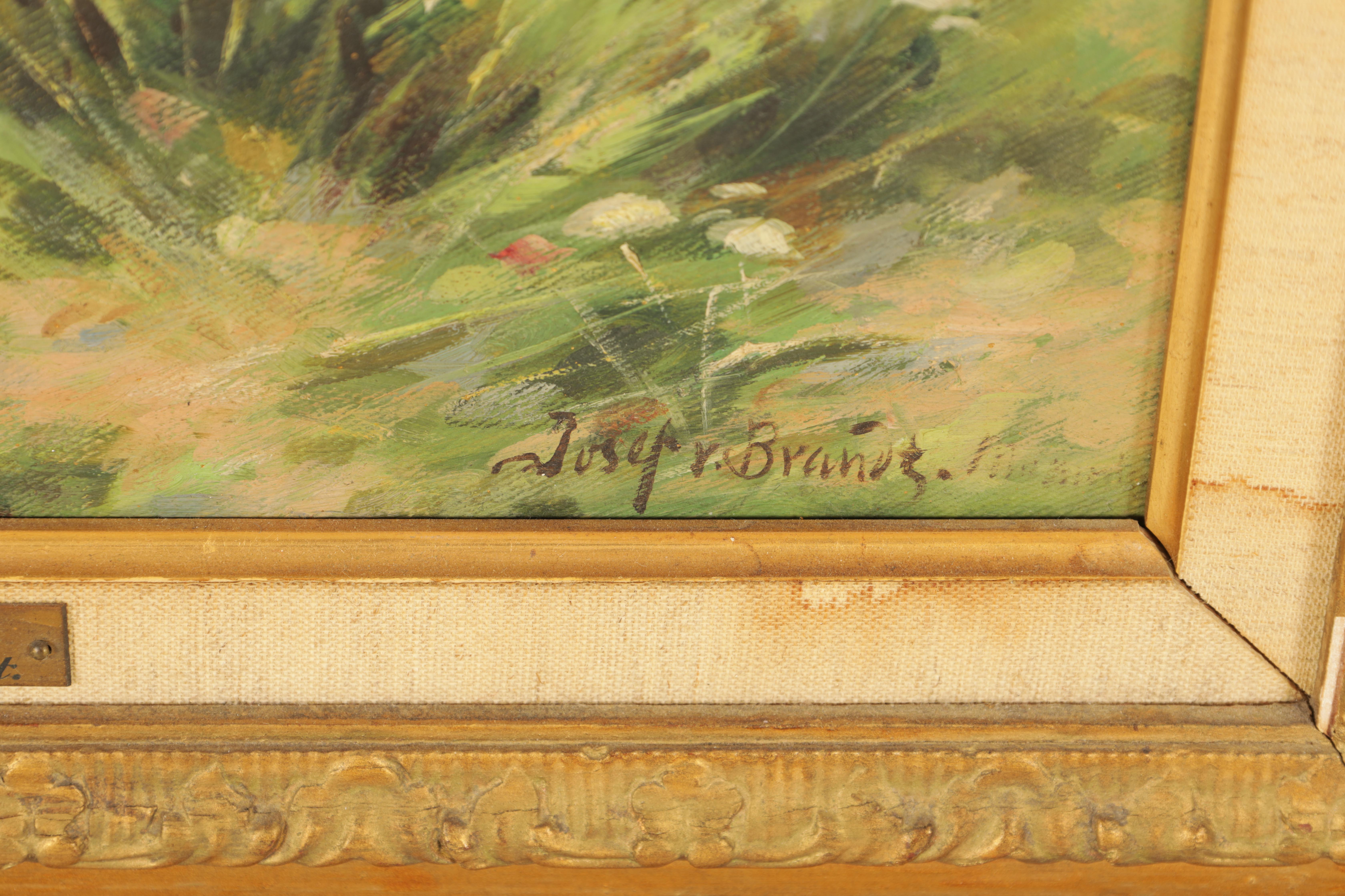 JOSEF VON BRANDT. POLISH, 1841-1928 OIL ON CANVAS Cossacks fording 49.5cm high, 33.5cm wide - signed - Image 3 of 5
