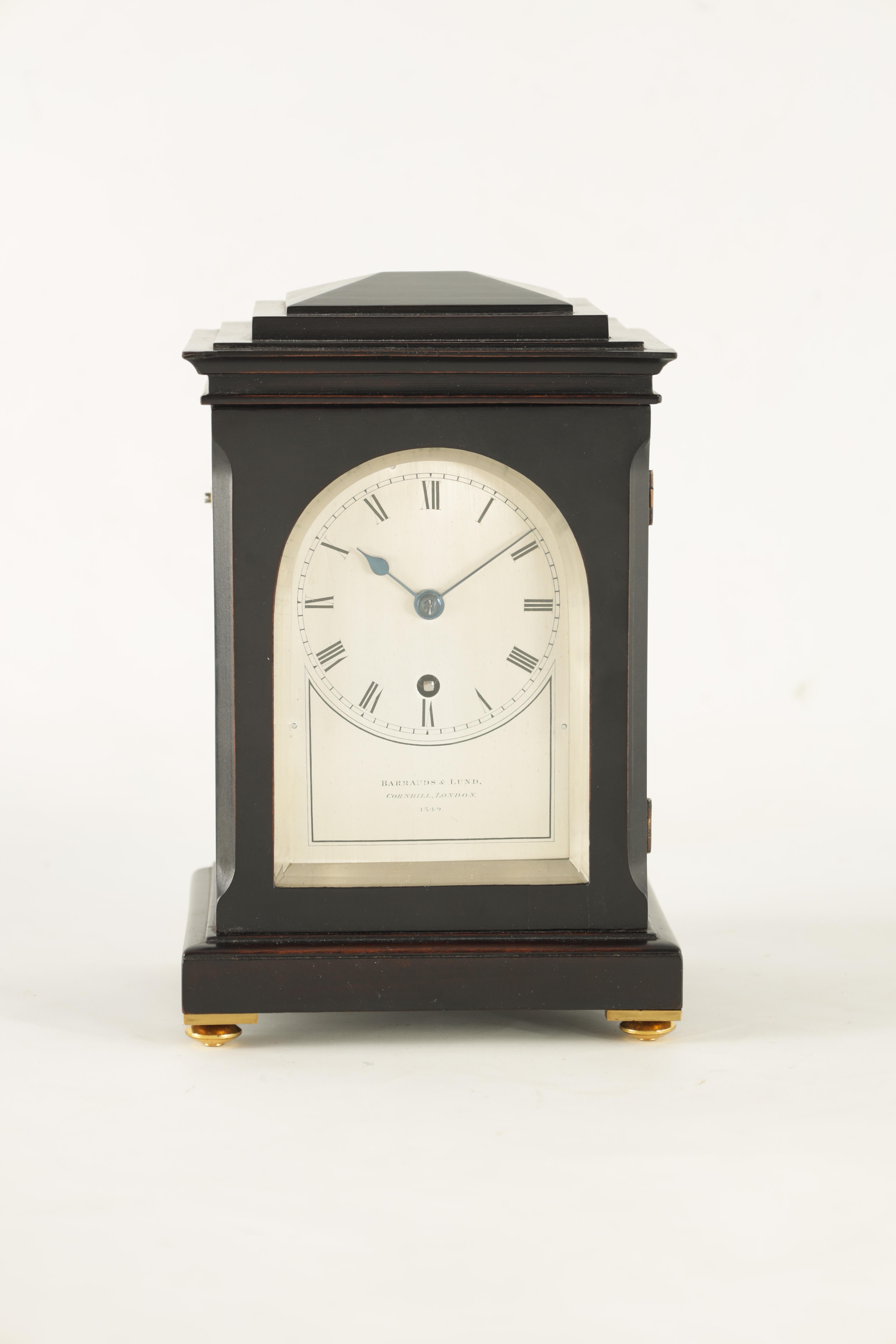 BARRAUDS & LUND, CORNHILL, LONDON. 1549 A FINE EARLY 19TH CENTURY REGENCY EBONISED ENGLISH FUSEE - Image 4 of 8