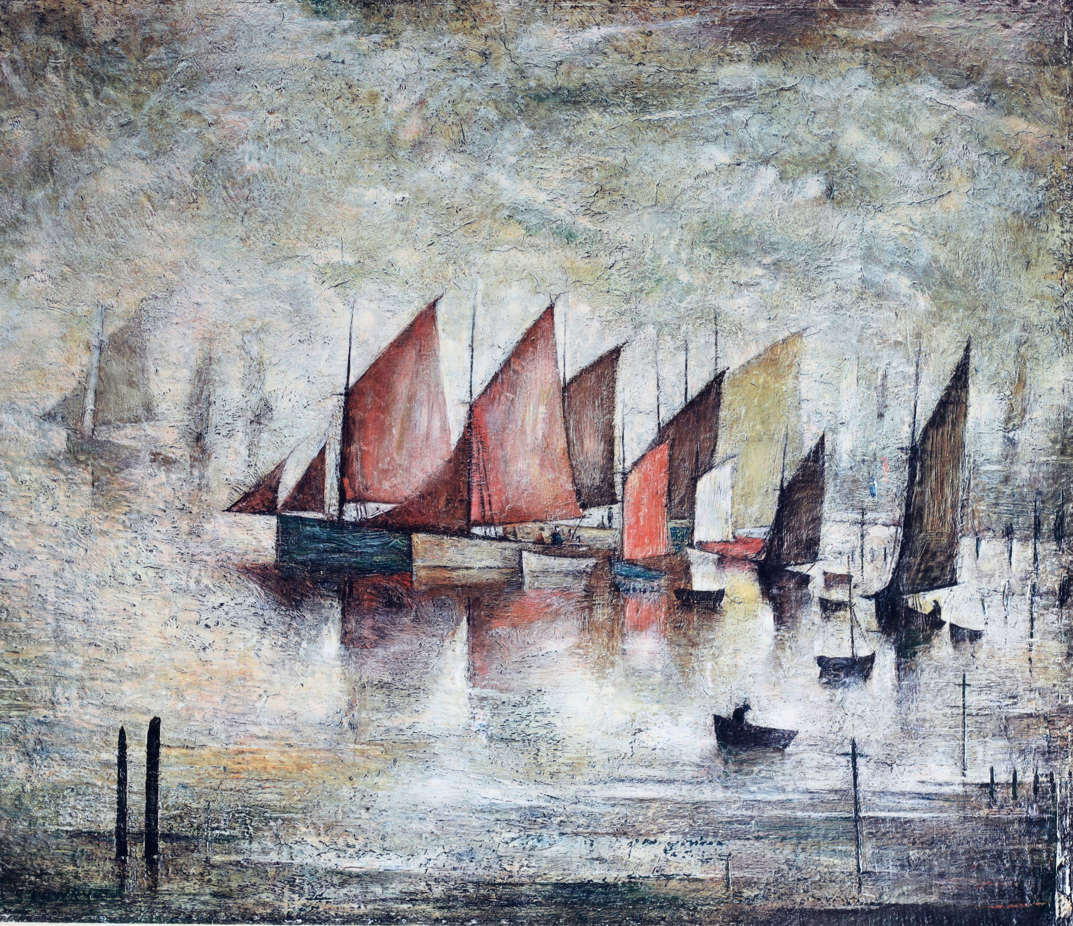 A.R.R. LAURENCE STEPHEN LOWRY (1887-1976) SIGNED PRINT 'SAILING BOATS' signed in pencil in the - Image 4 of 8