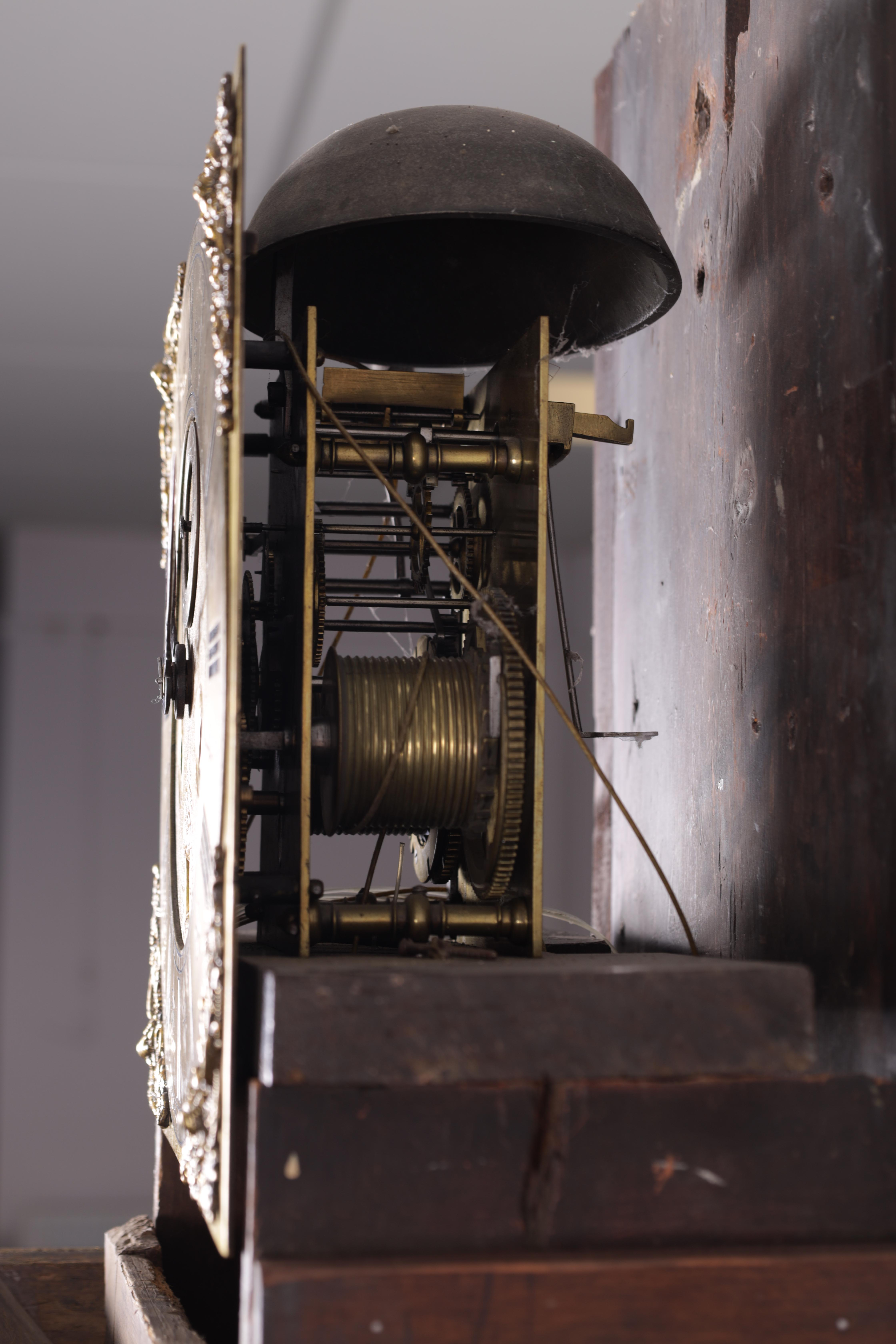 """THOMAS TALBOT, NAMPTWICH (NANTWICH) AN EARLY 18TH CENTURY 11"""" BRASS EIGHT-DAY LONGCASE CLOCK in a - Image 3 of 5"""