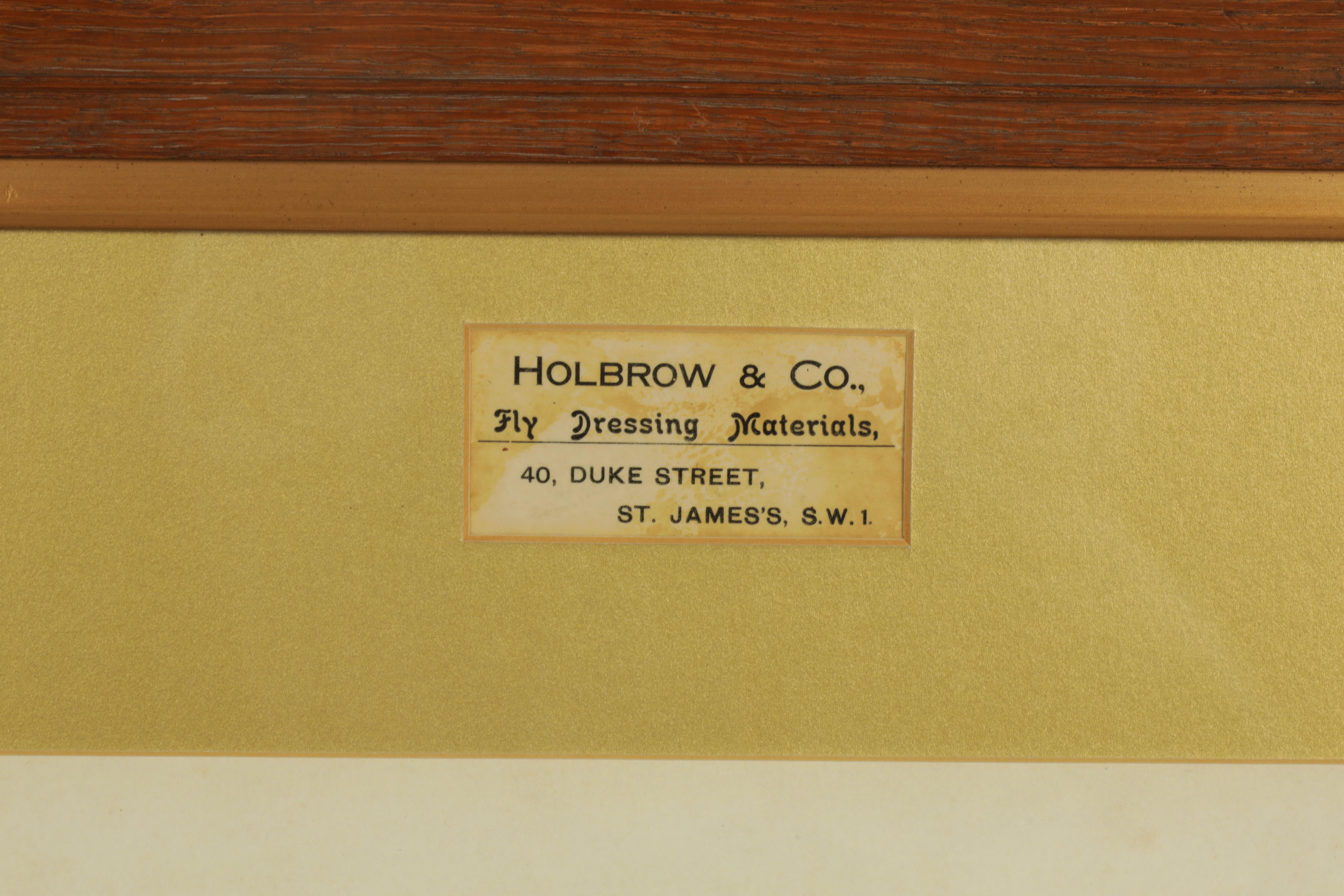 AN EDWARDIAN FLY FISHING SHOP DISPLAY FOR SALMON FLIES from Holbrook & Co. Fly Dressing Materials, - Image 3 of 3