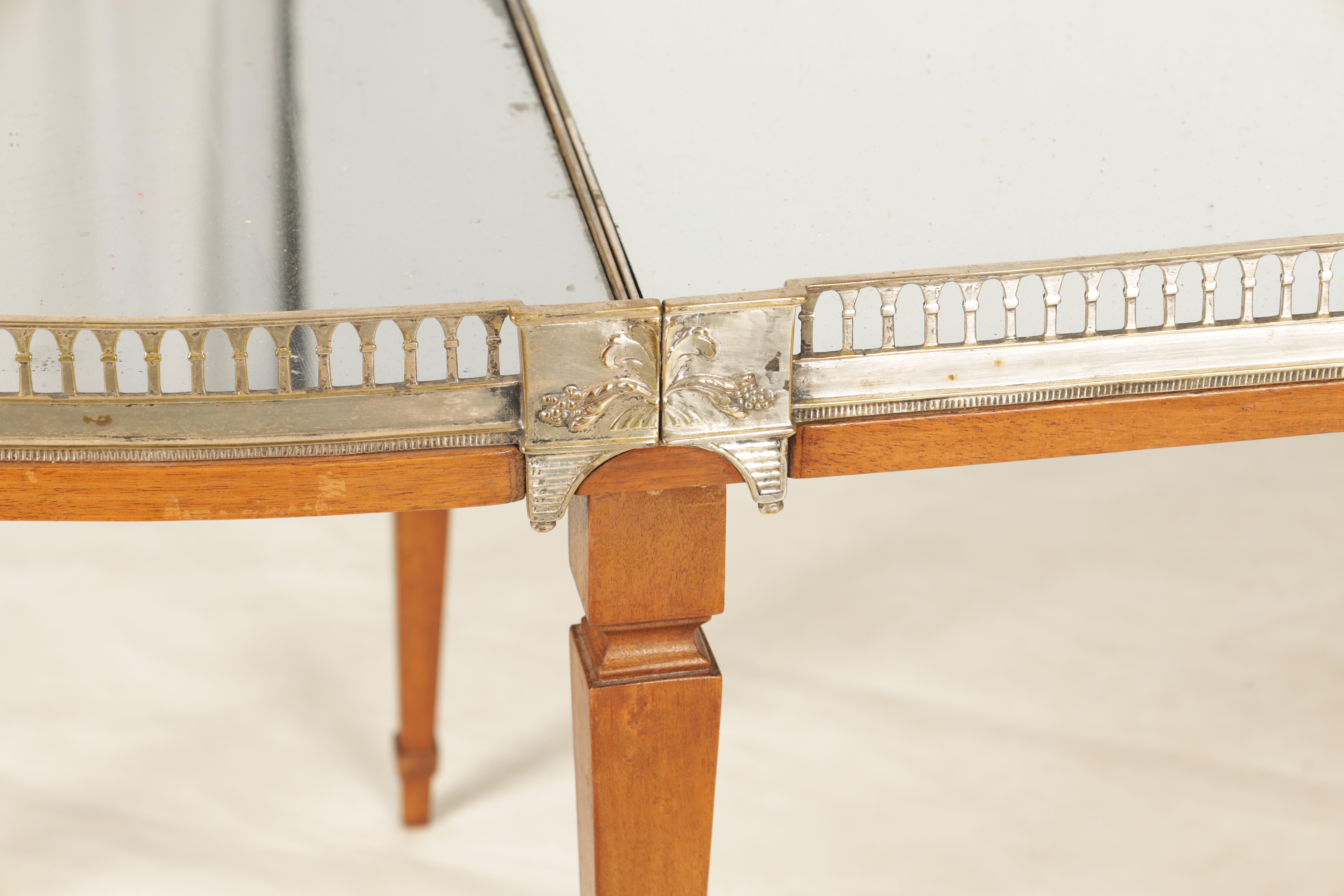 A 19TH CENTURY SILVERED BRONZE TABLE CENTREPIECE FOUR SECTIONAL TRAY with pierced gallery and - Image 5 of 5