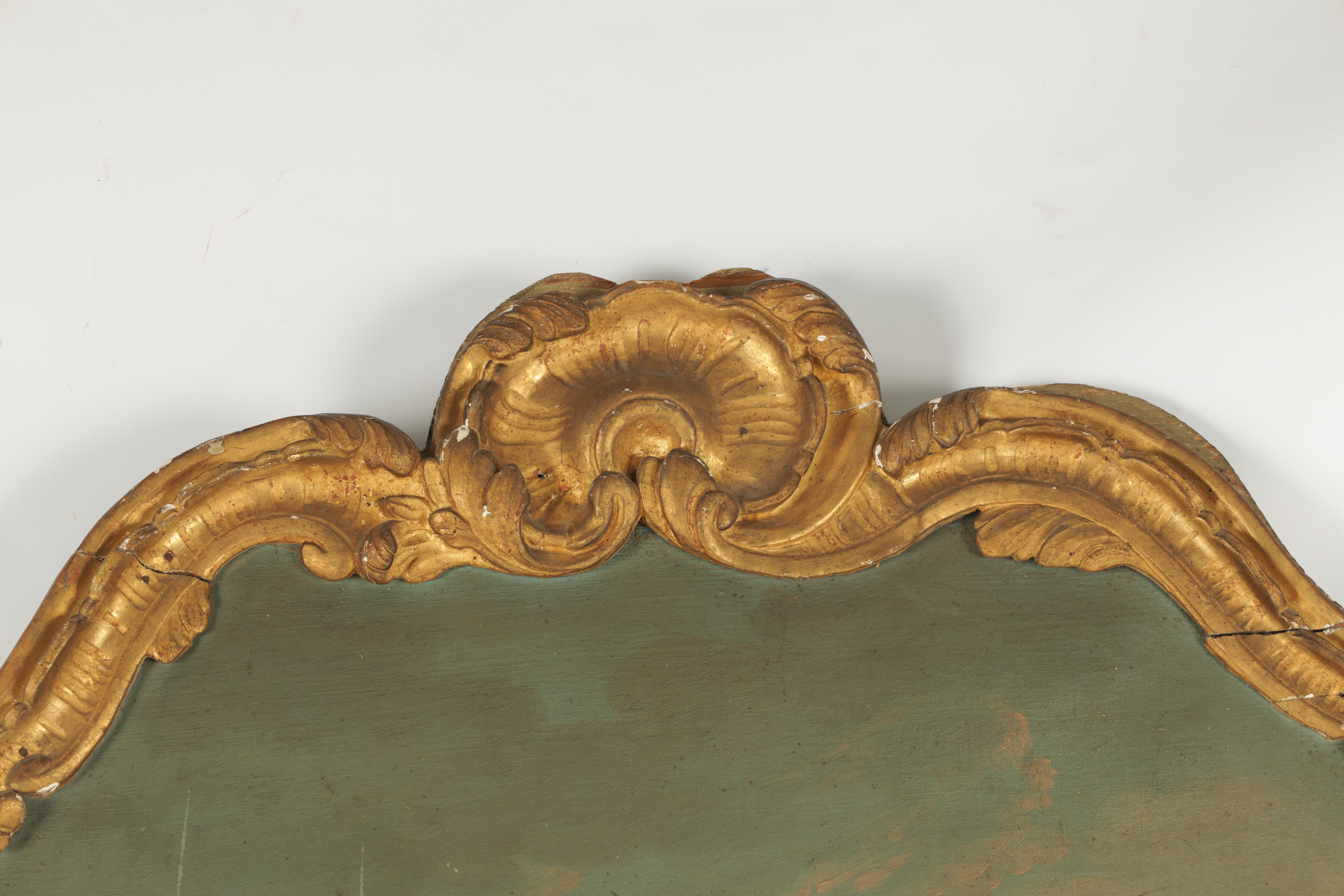 AN EARLY 18TH CENTURY CONTINENTAL GILTWOOD ROCOCO STYLE PIER MIRROR with leaf work carved frame - Image 4 of 5