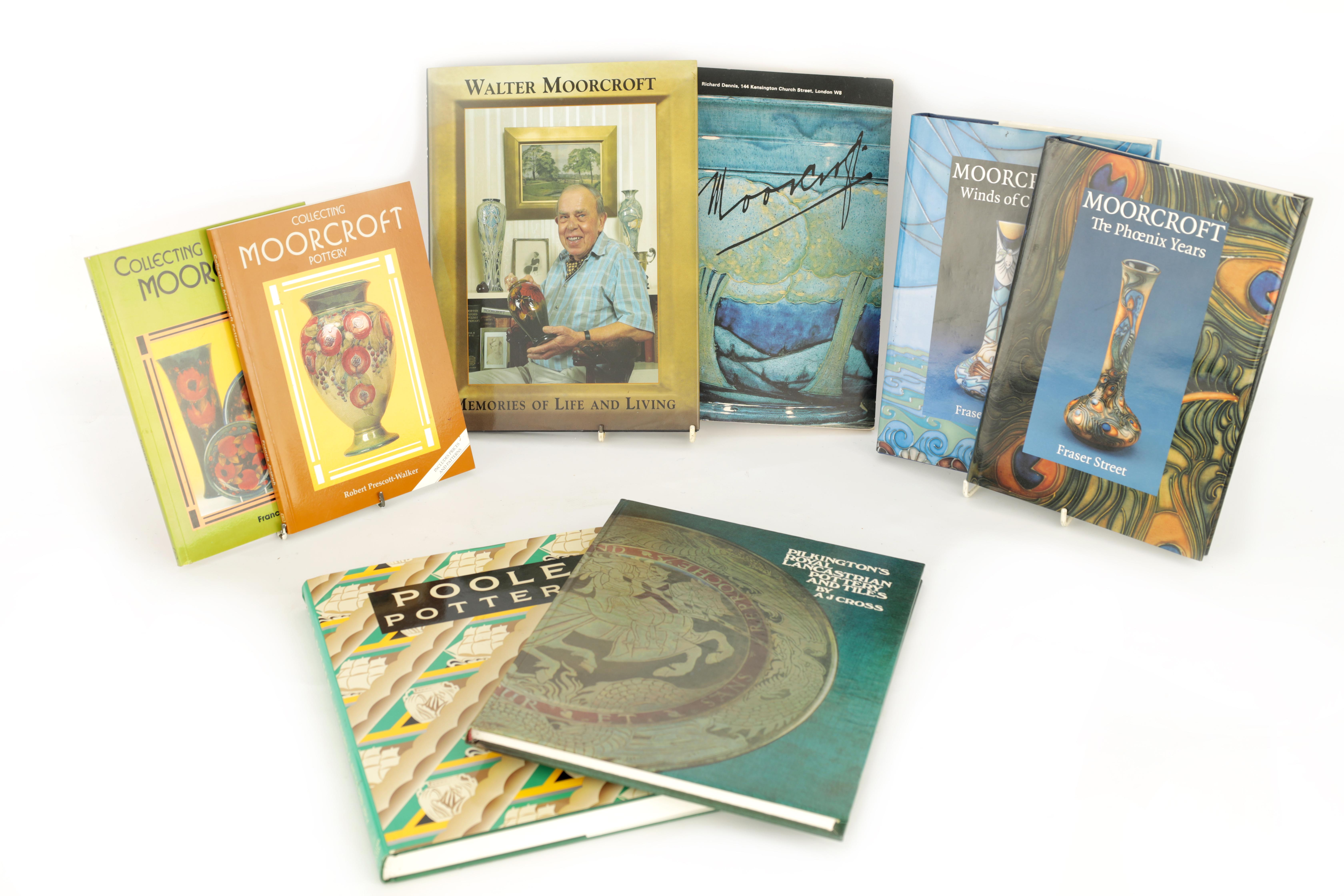 A COLLECTION OF EIGHT CERAMIC REFERENCE BOOKS including Poole pottery by Lesley Haward edited by