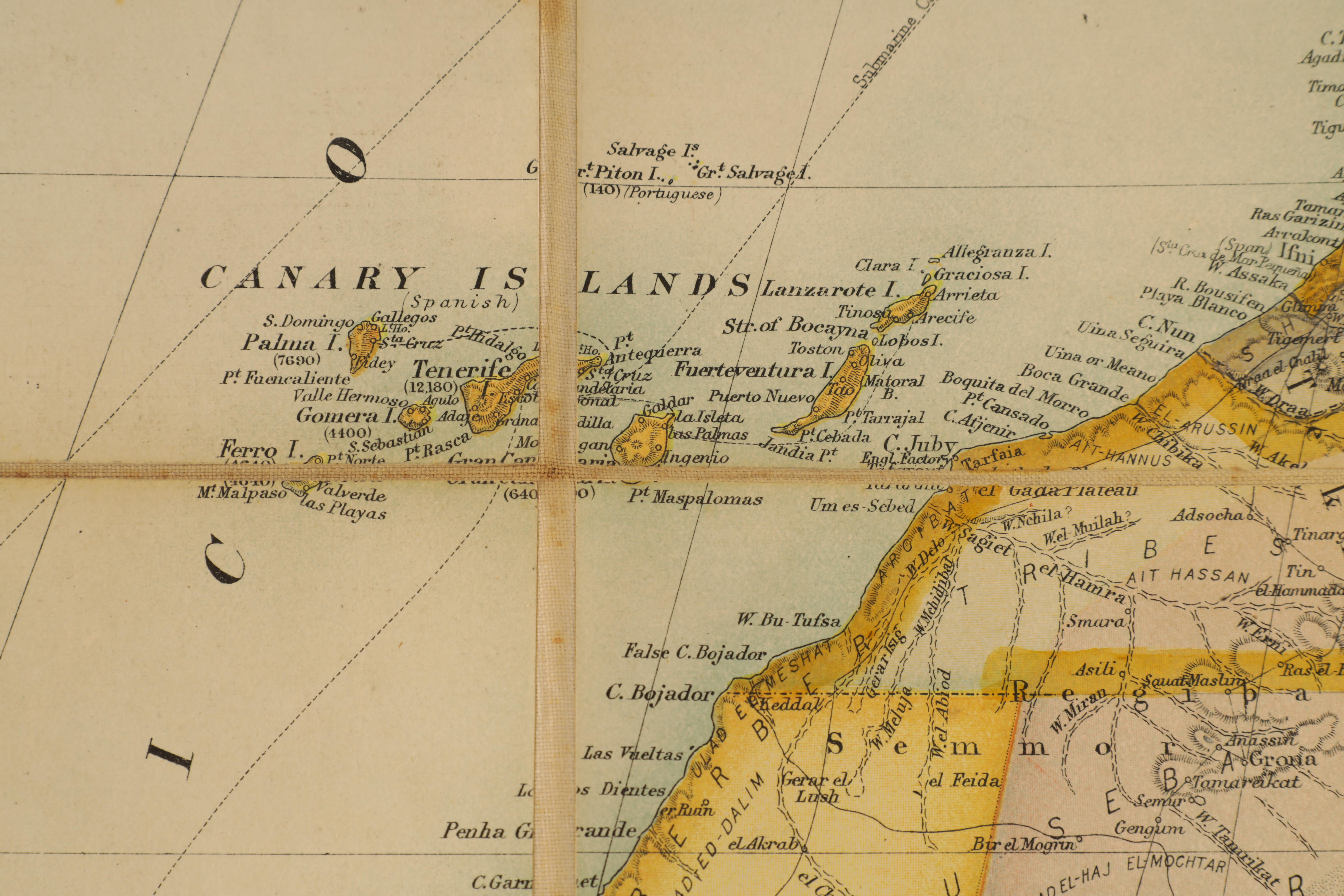 A STANFORDS MAP OF AFRICA - Image 8 of 9