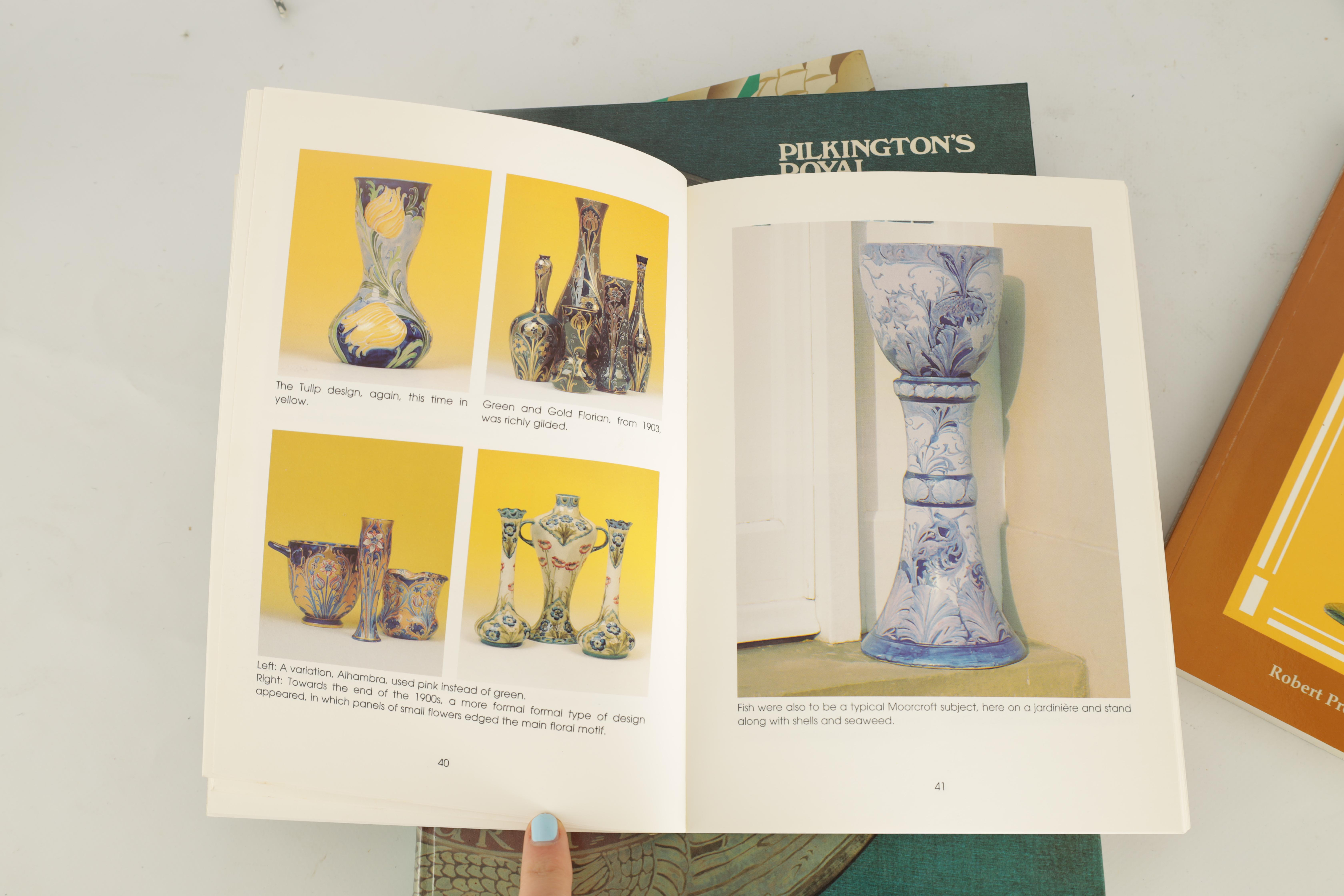 A COLLECTION OF EIGHT CERAMIC REFERENCE BOOKS including Poole pottery by Lesley Haward edited by - Image 4 of 9