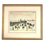 A.R.R. LAURENCE STEPHEN LOWRY (1887-1976) SIGNED PRINT 'FERRY BOATS' signed in pencil in the margin,